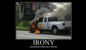 funny ford on fire flames motivational poster