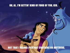 get between a man and a genie aladdin and genie had one of the best ...
