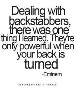 Backstabbers Quotes And Sayings