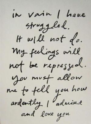 Mr. Darcy, in Pride and Prejudice - Dear Future Husband, please take ...