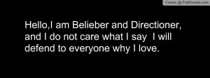 Belieber and Directioner Profile Facebook Covers