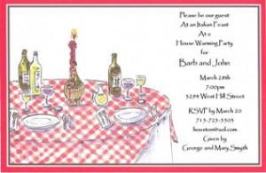 Italian Dinner Party Invitation Template