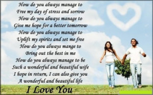 Beautiful Life Short Love Poems For My Wife
