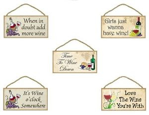 10-Wooden-Sign-Plaque-Kitchen-Decor-Funny-Wine-sayings-You-Choose ...