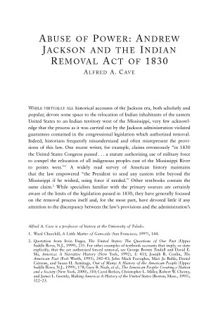 What was the Indian Removal act?