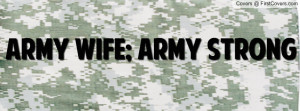 army wife army strong Profile Facebook Covers