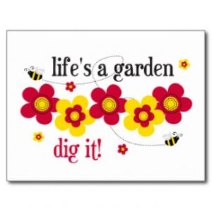 Funny Garden Quotes Postcards