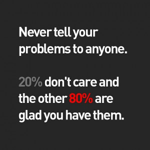 Never Tell Your Problems: Quote About Never Tell Your Problems ~ Daily ...