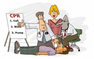 Quick Guide of Steps CPR: (Click on Topic for Information)