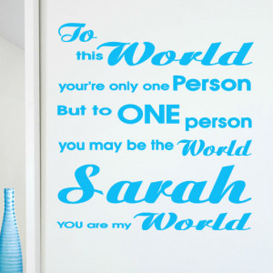 Worlds Best Quotes' Personalised