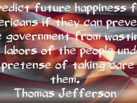 Quotes Photo American Flag With Thomas Jefferson Quote