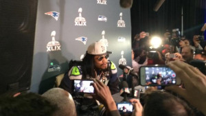 Marshawn Lynch has a new catchphrase: 'You know why I am here ...
