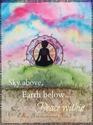 Yoga art inspiration quote peace chakra art print