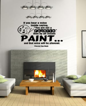 Wall Vinyl Sticker Decals Art Mural Quote about Paint OS255 decals