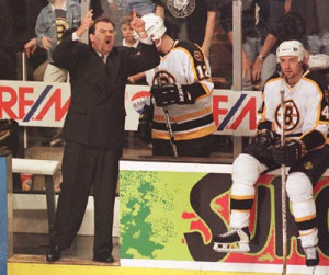 Coach Pat Burns can't handle Paul Devorski's correct call in Game 3 on ...