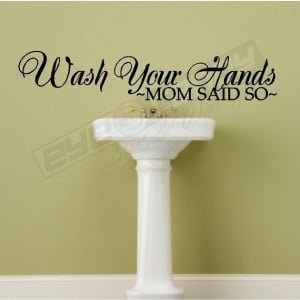 Wash Your Hands Wall Quotes Words Art Decals