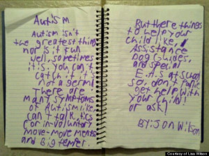 Cute Kid Note Of The Day: What Autism Is (VIDEO)