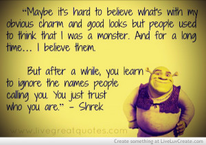 Funny Shrek Love Quotes: Shrek Quotes Picture By Brokenpromise ...