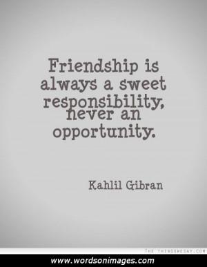 Kahlil gibran friendship quotes