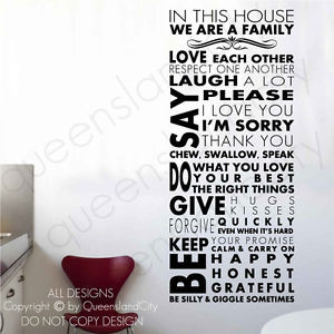 Cheap Stickers Vinyl Wall Quote Decal Family Home Decor Inspirational