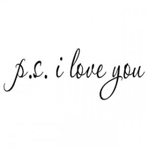 ps i love you vinyl wall quote vinyl wall lettering stickers quotes ...