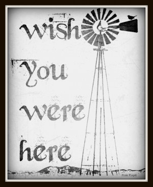 Pink Floyd Wish You Were Here lyric Art Quote 8X10 Typography Poster ...