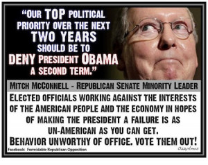 Mitch McConnell Is the Definition of an Obstructionist (PARODY PHOTO)