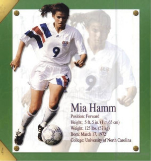 mia hamm soccer quotes - Google Search | stamperdebbie sports