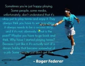 Federer Drops One of His Legendary Quotes