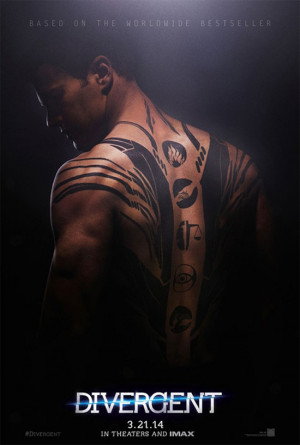 Theo James Shirtless in New 'Divergent' Poster