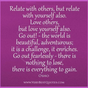 Inspirational quotes osho quotes love yourself quotes