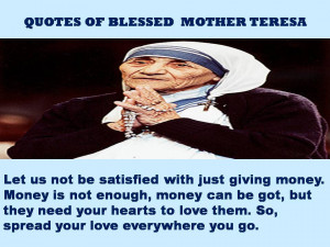 QUOTES OF BLESSED MOTHER TERESA – 17-02-2013