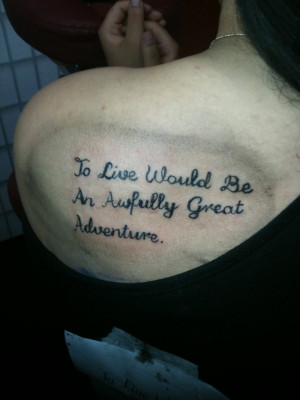 Peter Pan Quote Tattoos