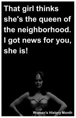 Women's History Month display sign. Bikini Kill - Rebel Girl quote I ...
