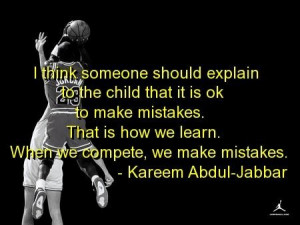 Basketball quotes and sayings kareem abdul jabbar mistakes