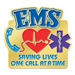 EMS Saving Lives Lapel Pin