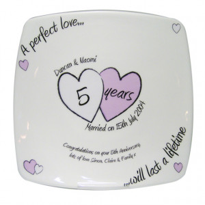 This Personalised Message Plate - Any Year Wedding Anniversary is a ...