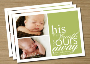 baby announcement baby girl baby boy printable by cardsetcetera $ 15 ...