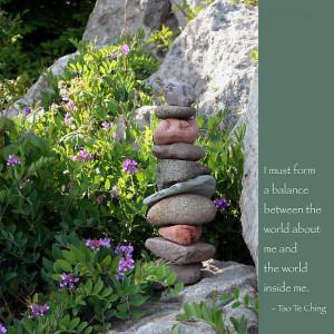 Heidi Hermes › Portfolio › Balancing Stones With Tao Quote