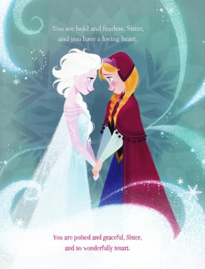 Frozen A Sister More Like Me book