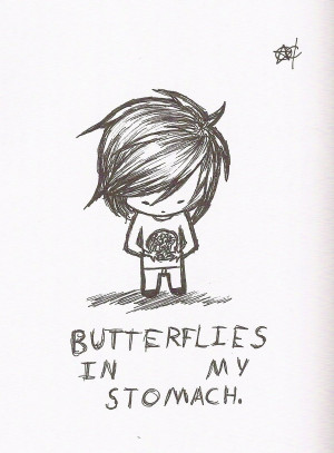 Butterflies in my stomach by Enigmar