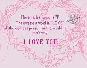 The Sweetest word is Love