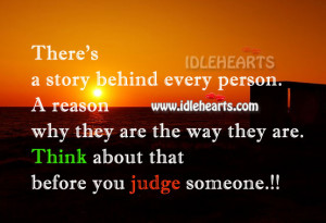 think before you judge quotes