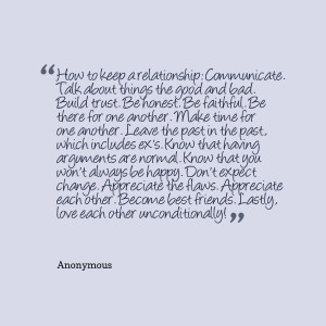 Quotes Picture: how to keep a relationship: communicate talk about ...