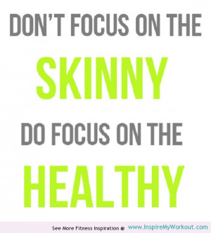 Fitness advice quote for women of all sizes.