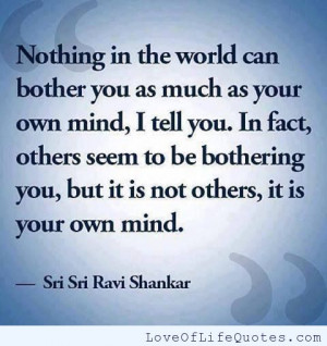 Sri Sri Ravi Shankar quote on your own mind
