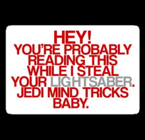 Jedi Mind Tricks Baby! Stickers| RedBubble