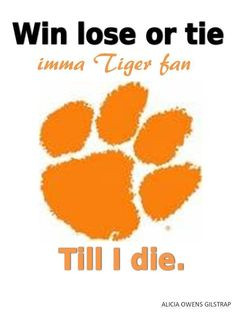 ... tigers pride things clemson tigers paw clemson tigers tigers fans