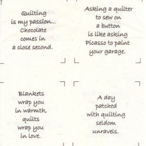 Talking Quilts Mini Quilter Quotes