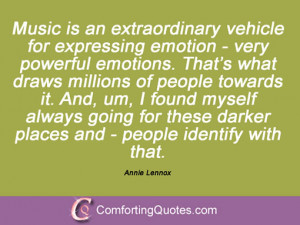 Annie Lennox Quotes And Sayings